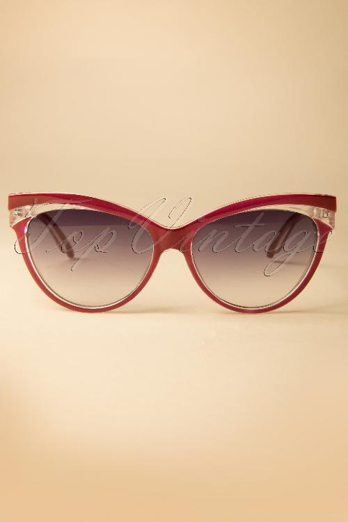 Collectif Clothing Judy Classic 50s Cat Eye Sunglasses Red 260 20 12856 20140516 0001W