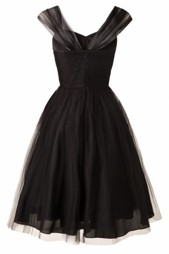 1f2ace8c94cb 50s Garden State Dress in Black. Unique Vintage ...