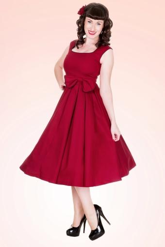 Lindy Bop 50s Grace Swing dress red 102 20 10607 1