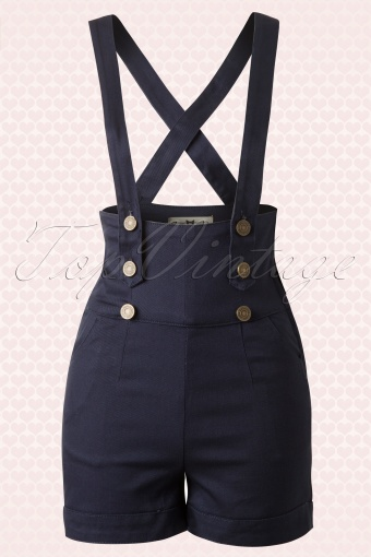Collectif Clothing Franky Shorts Navy Blue 130 31 10267 20140528 0008