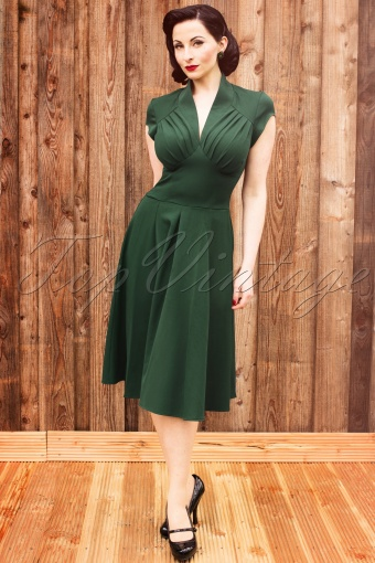 Miss Candyfloss  50s Odette Green Dress 102 40 12495 20140304 AvaW