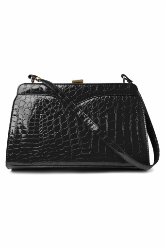 Retrolicious 50s Scarlet hand bag croc black 88 4168 01