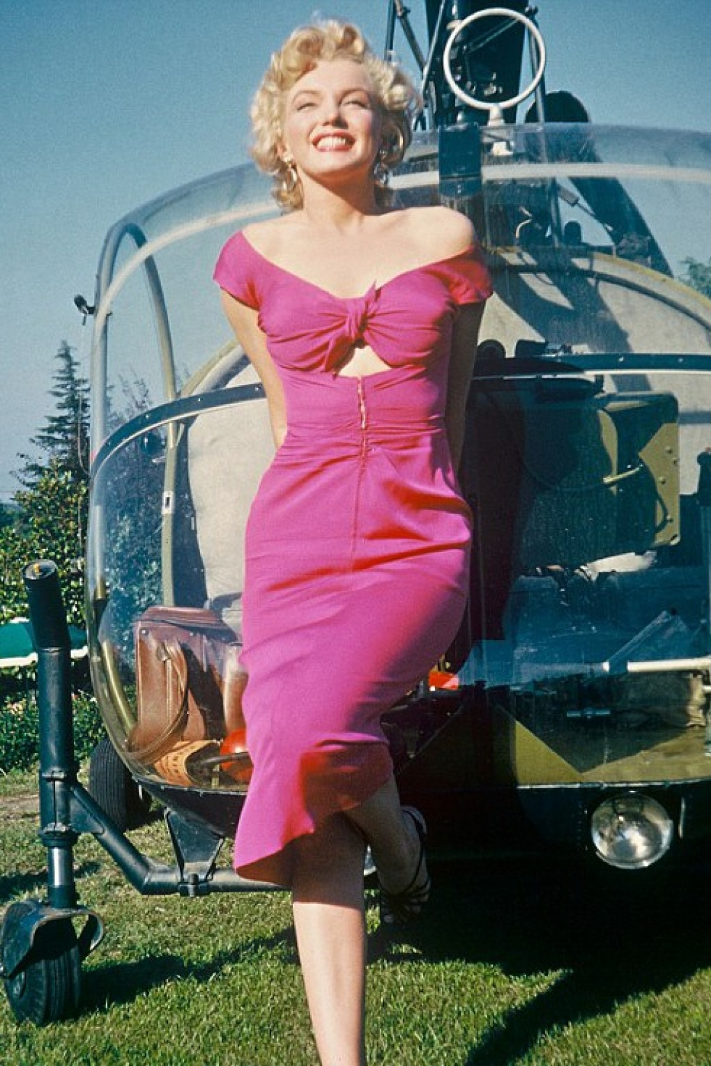 50s Marilyn Niagara Dress In Hot Pink