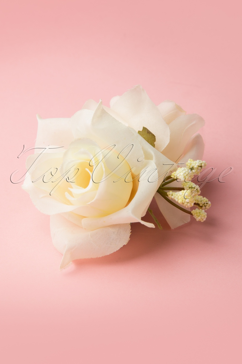 Shop 1950s Hair Accessories 50s Pin-Up Double Hair Roses Clip Cream £6.75 AT vintagedancer.com