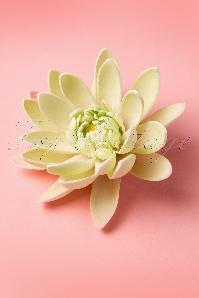 Water Lily Hair Clip in Light Green