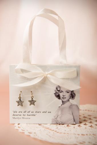 Lovely Marylin Monroe Star Earrings Gift Postcard 330 99 13143 20140616 0003