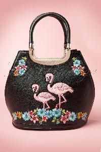 50s Flamingo Handbag in Black