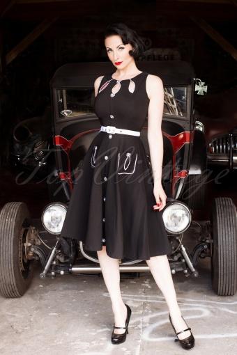 Vixen  Black Semi Swing Dress 106 20 12593 Ava W