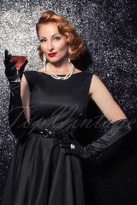 The Satin Chic Gloves en Noir