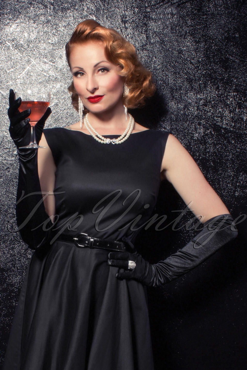 Vintage Style Gloves- Long, Wrist, Evening, Day, Leather, Lace The Satin Chic Gloves in Black £13.03 AT vintagedancer.com