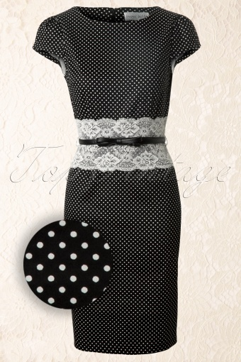 Paper Dolls  Black and white pindot pencil dress 100 14 12299 20140127 0003WV