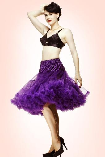 Bunny 50s retro Petticoat chiffon purple 10991
