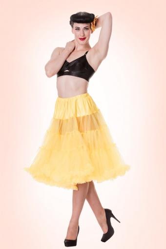 Bunny 50s Petticoat Chiffon Yellow 10996
