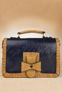 50s Antique Messenger Bag in Blue
