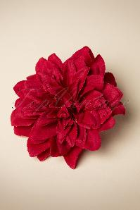 Red Flower Hair Clip & Broche