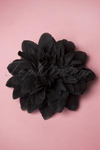 Flower Hair Clip & Broche en Noir