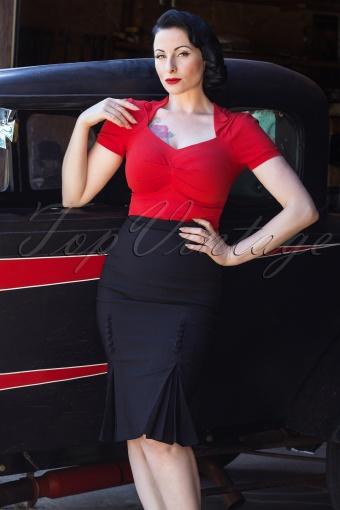 Bettie Page clothing  Catwalk Skirt Black 120 10 12679 20140218 0006WAva
