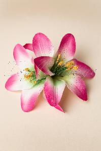 From Paris with Love Pink Lilly  Flower Hairclip 200 60 13360 20140607 0006W