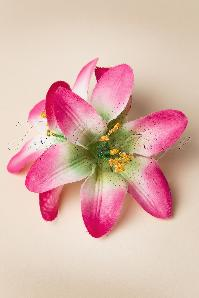 Lily Flower Hair Clip en Rose