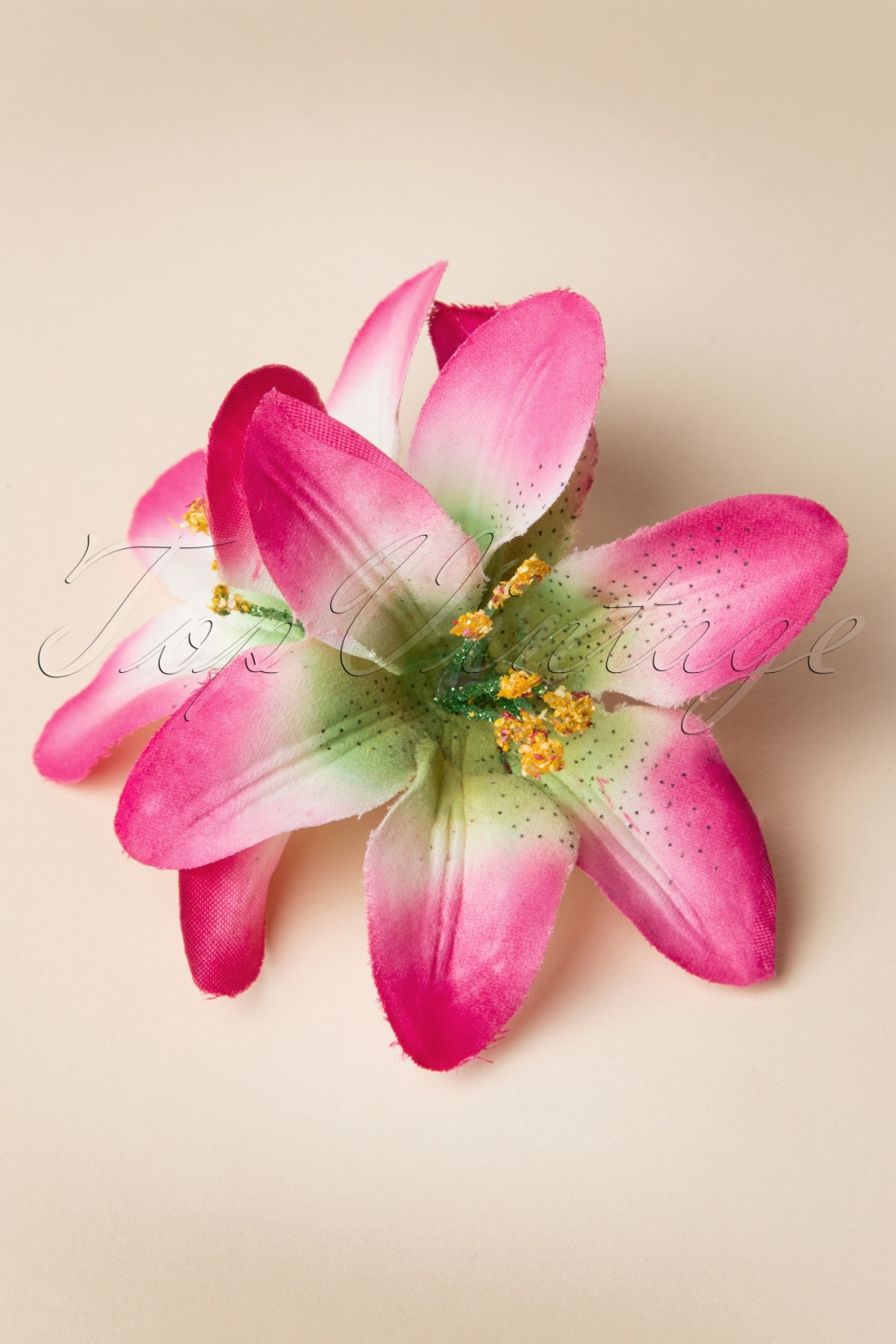 Pink Lily Flower Hairclip