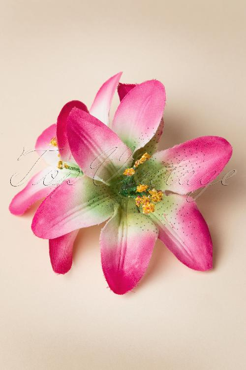 From Paris with Love Pink Lilly  Flower Hairclip 200 60 13360 20140607 0005W