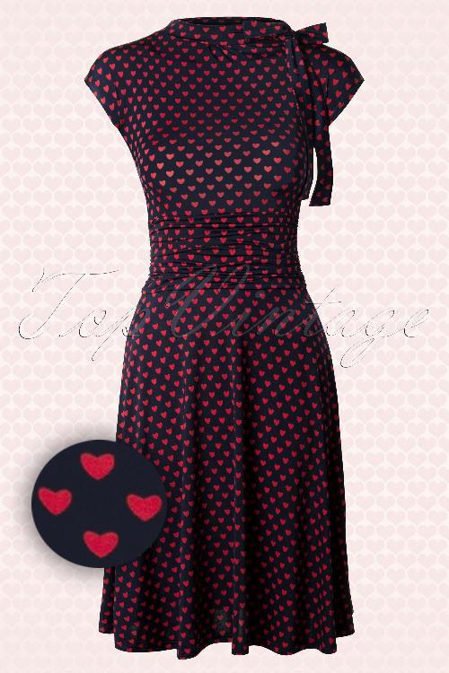 Retrolicious Heart Bombshell Navy Red Dress 106 39 12888 20140515 0005 1WAV