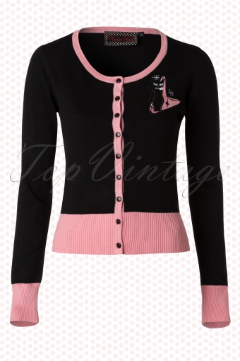 Vixen Black Pink Cat Cardigan 140 10 12594 20140621 0004W