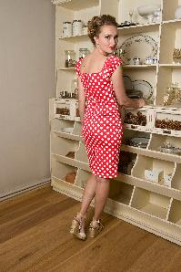 9cd32b3cb7710 ... Collectif Clothing 50s Dolores dress red white polka dot 4