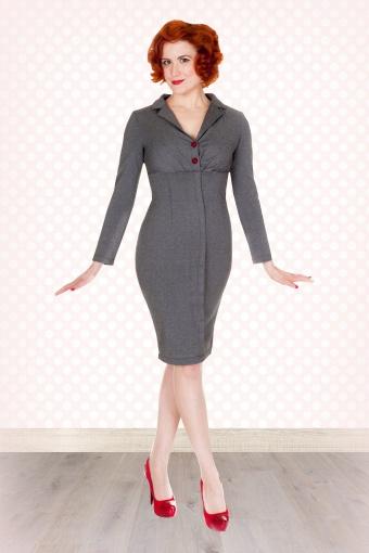 7cc0ef059ba6 lindy bop brigitte vintage office secretary style long sleeved jersey  pencil dress p260 2773 Bzoom