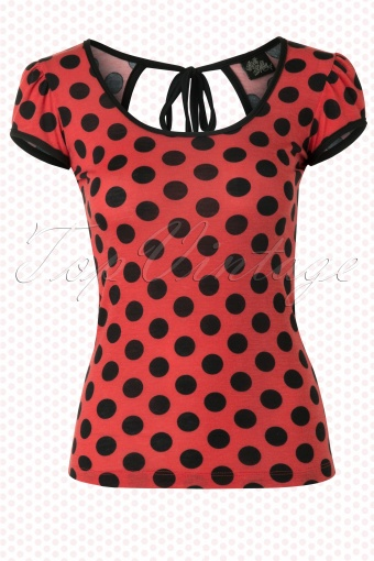 Steady Clothing Robyn Top In Coral Red Polkadot 110 27 12510 20140523 0004W