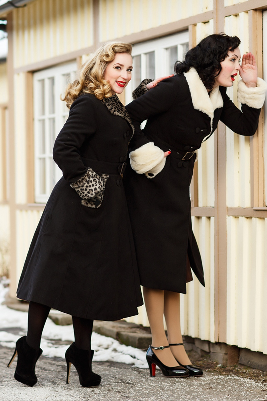 TopVintage exclusive ~ 50s Gladis Leopard Fur Winter Coat