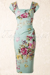 Cara Dress in The Mint Seville Floral Print
