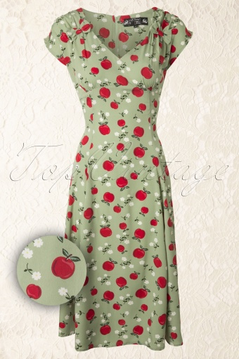 Bunny  50s Sheila Dress Green 12042 20140227 0016 FrontWV