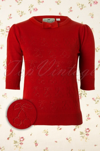 Collectif Clothing  Annie Cherry Top 110 27 11957 20131122 0002W