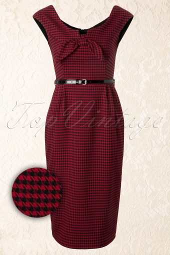 So Couture  Scarlet Red Black Pencil Dress 100 27 11979 20131211 0005WAV