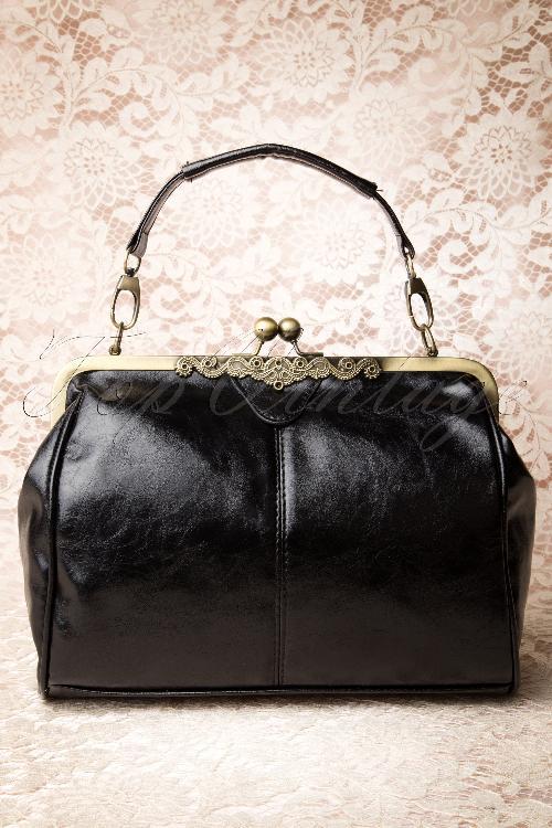 Kaytie Vintage Frame Kissslock Bag Black 212 10 13378 20140719 0008W