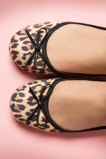 Foldable Ballerina Cleo Suede Leopard