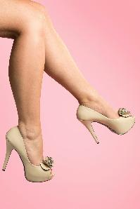 Pinup Couture Shoes  Lolita Beige Pumps  403 52 12645 20140224 0001
