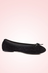 Butterfly Twists Cece Leopard Ballerinas Black 410 10 13525 03