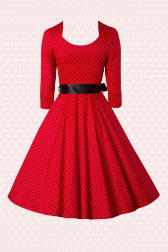 And dresses swing red black