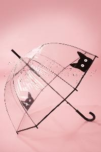 50s It's Raining Cats Transparent Dome Umbrella