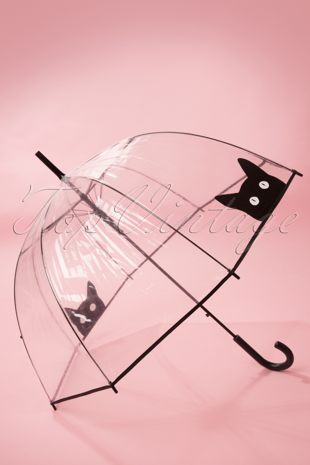 Vintage Style Parasols and Umbrellas 50s Its Raining Cats Transparent Dome Umbrella £15.79 AT vintagedancer.com