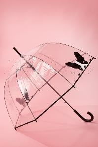 50s It's Raining Dogs Transparent Dome Umbrella
