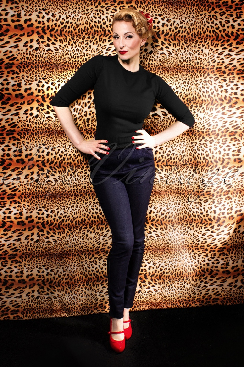 1950s Pants History for Women 50s Madmen Black Pullover 34 £44.59 AT vintagedancer.com