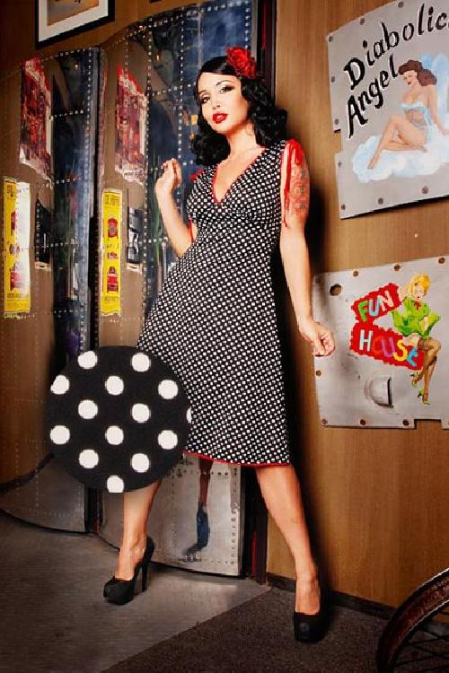 summer dress anna black polka dotWV