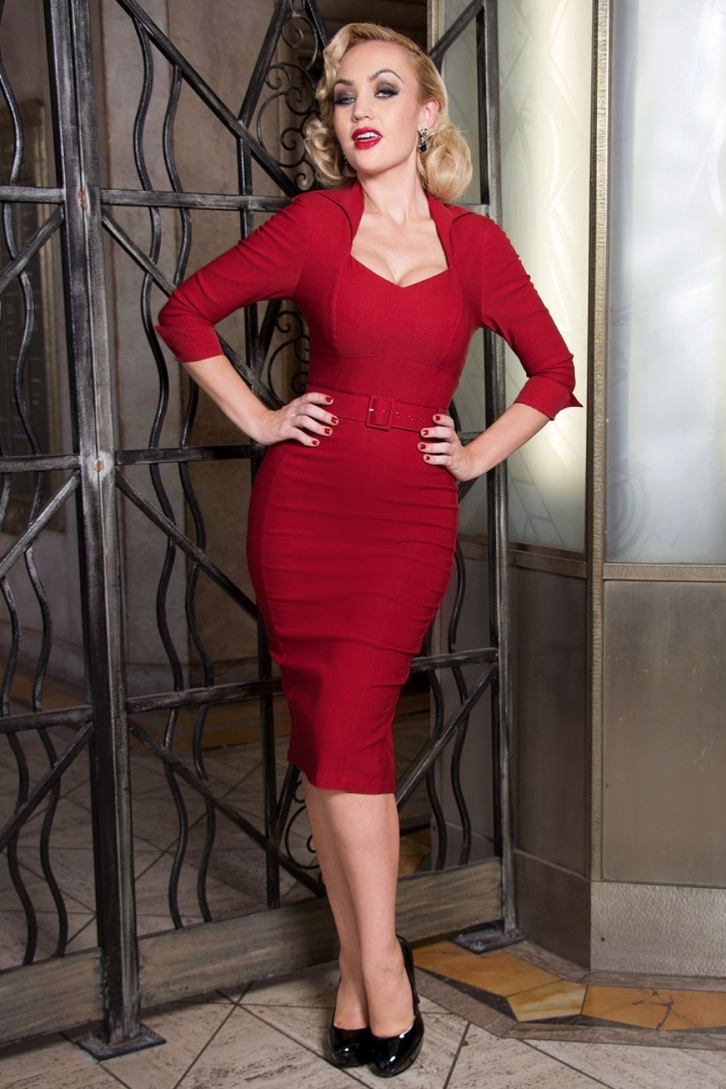 50s Lorelei Dress Marilyn Monroe in Red