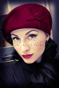 50s Cora Hat in Burgundy