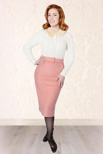60s Caroline Pencil Skirt Pink