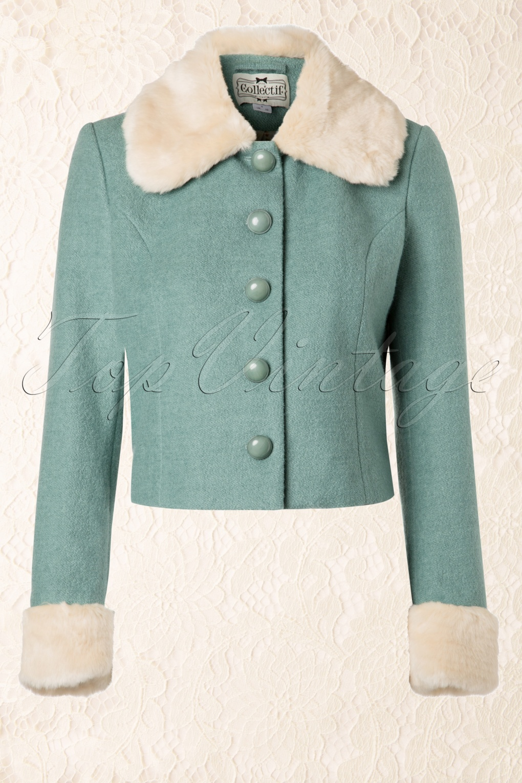 60s Marianne Jacket Mint Green