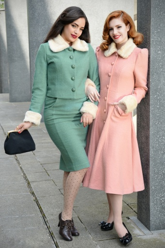7becea3f4 Collectif Clothing Caroline Pencil Skirt Green 120 40 14378 1